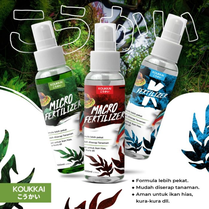 Jual Pupuk Aquascape Macro, Micro dan K Fertilizer Koukkai