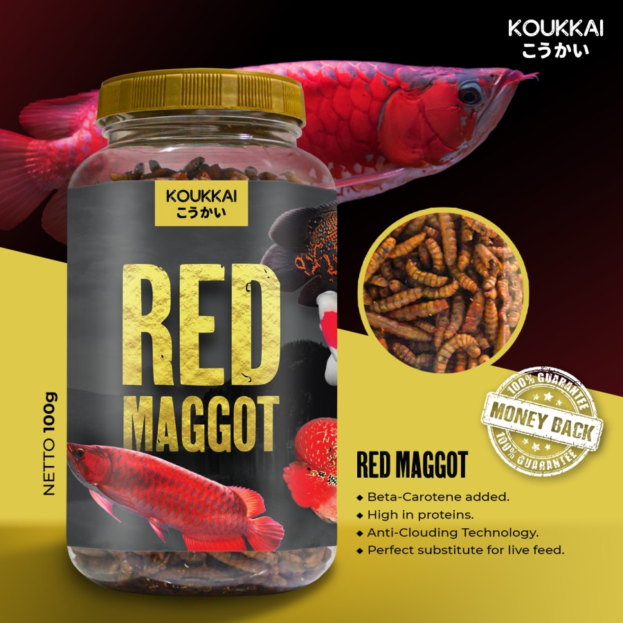 Jual Produk Red Maggot with Beta-carotene KOUKKAI